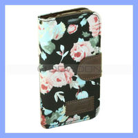 Pastoral Style Wallet Leather Case for Samsung Galaxy S4 Mini i9190