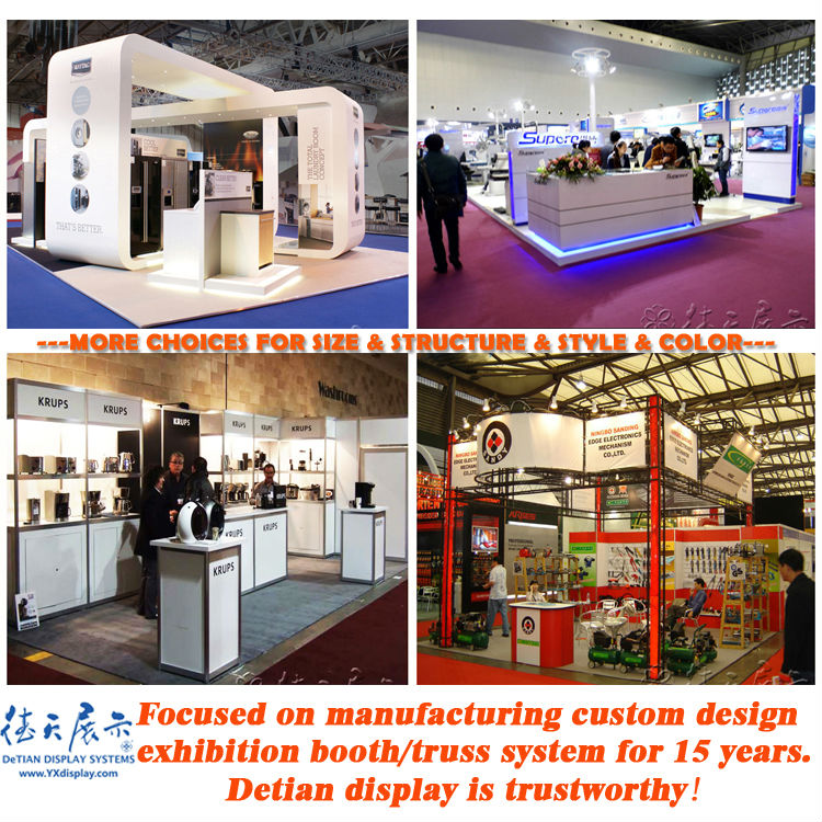 Wooden Exhibition Booth : Wooden exhibition booth with fair reception desk for trade