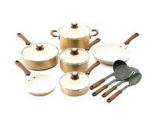 Cottage Precious Metals 14 Piece Non-Stick Ceramic Cookware Set, Copper