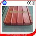 de acero de color de techo para techos hojas tamaños de hoja