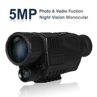 """New 5 Megapixels 5x40 Digital Night Vision Monocular 200m Range Takes Photos & Video with 1.44"""" TFT LCD Hunting Scouting Game"""