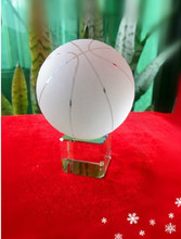 The crystal ball basketball with base furnishing articles