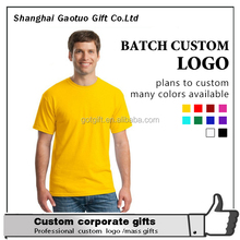 Wholesale custom cottton man blank advertising t shirt