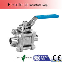 CF8M stainless steel with ISO 5211 actuator ball valve