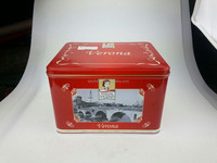 Verona Italy Biscuit Tin, Size 243x198x160mmH