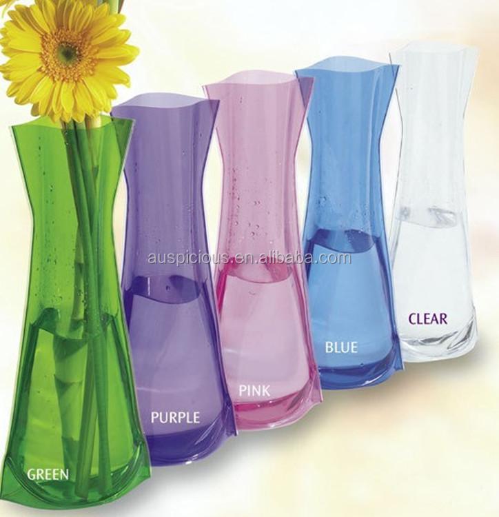 Pas cher plastique transparent pvc vases pour fleurs for Fleurs a livrer a domicile pas cher