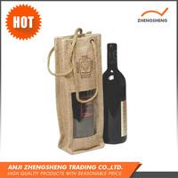 Alibaba China Eco-friendly Wine Custom Design Jute Shopping Bags