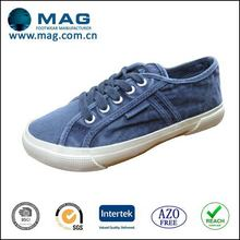 Low price cheap classical design dye washed canvas shoes for women