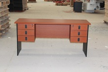 six drawers metal office table