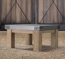 outdoor furniture wooden waterproof coffee table with zinc top