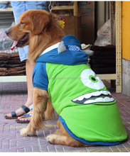 Hoodie Dog Sweater Clothes Mike Michael Wazowski Warm Pet Costume for Large Dogs XS- 8XL