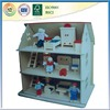 Wooden prefabricated house for sale with furnitures and dolls