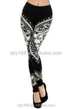 seamless line printed leggings zumba pants tie dye leggings