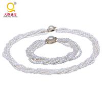Fashion jewelry set pearl set designs freshwater pearl jewelry set