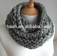 chunky garter stitch knit neck warmers