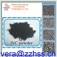 Zirconium Carbide Powder ZrC, High Purity 99.9%, Cubic used as abraisves and textile zirconium carbonide powder