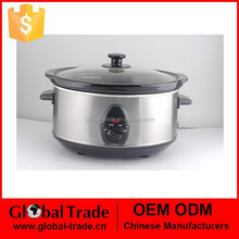 3.5L Round Stainless Steel Slow Cooker for kitchen