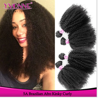 High quality human hair 5a brazilian virgin afro kinky human hair for braiding