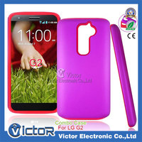 Guangzhou Factory original Mobile phone accessories new novelty design PC silicone combo case for LG G2