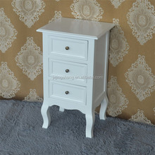 China supplier french style white bed table wood furniture