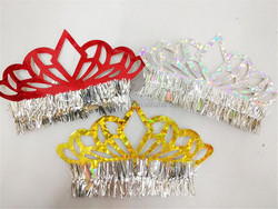 Hot sale kids paper crown,laser paper crowns tiaras,crown tissue paper for beautiful girl