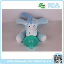 Big sale 2015 New Fashional Style Cheap plush toys with pacifier EN72 accepted