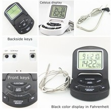2015 Kitchen Craft Digital LCD Display Cooking Catering Probe Thermometer & Timer BBQ Meat Beef THERMOMETER