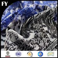 Custom digitally printed cotton lycra fabric
