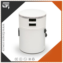 GENJOY 2014 3.0A,LED LOGO Patented travel adapter power bank with two usb