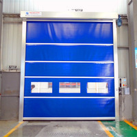 High Perfomance Roll up plastic curtain light barriar industrial high speed door