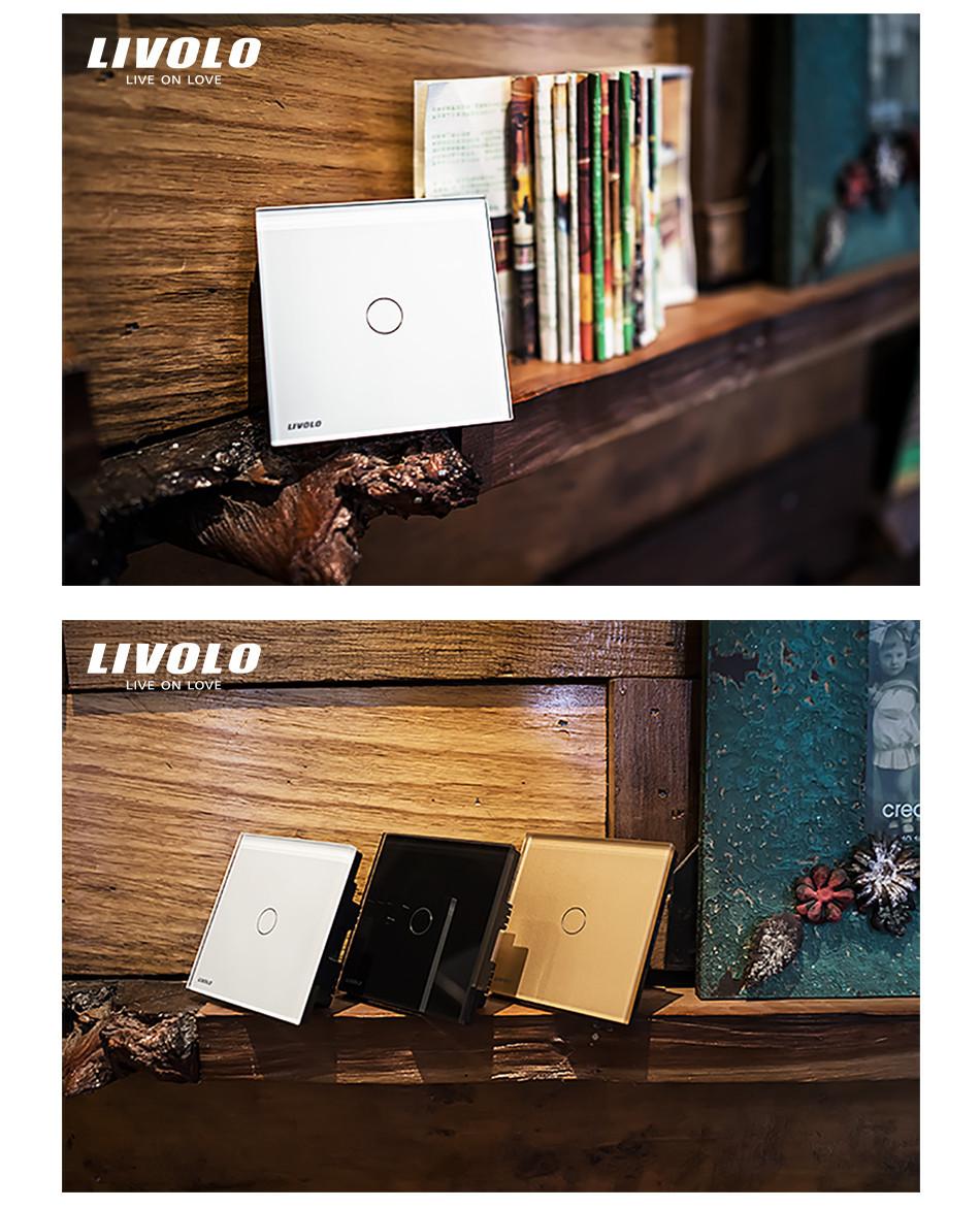 Настенный переключатель Livolo, 100% , c302r/63,  VL-C302R-63