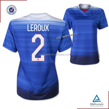 cheap wholesale top thailand quality 2015 2016 USA soccer jersey blue color polyester short sleeve away kit