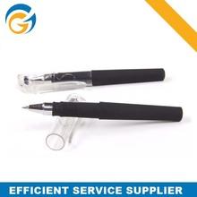 Transparent Cap Rubber Grip Black Ballpoint Pen Back to School Use