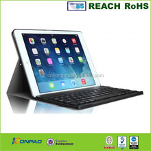 bluetooth keyboard leather case for ipad air 2,9.7 tablet pc leather case bluetooth keyboard