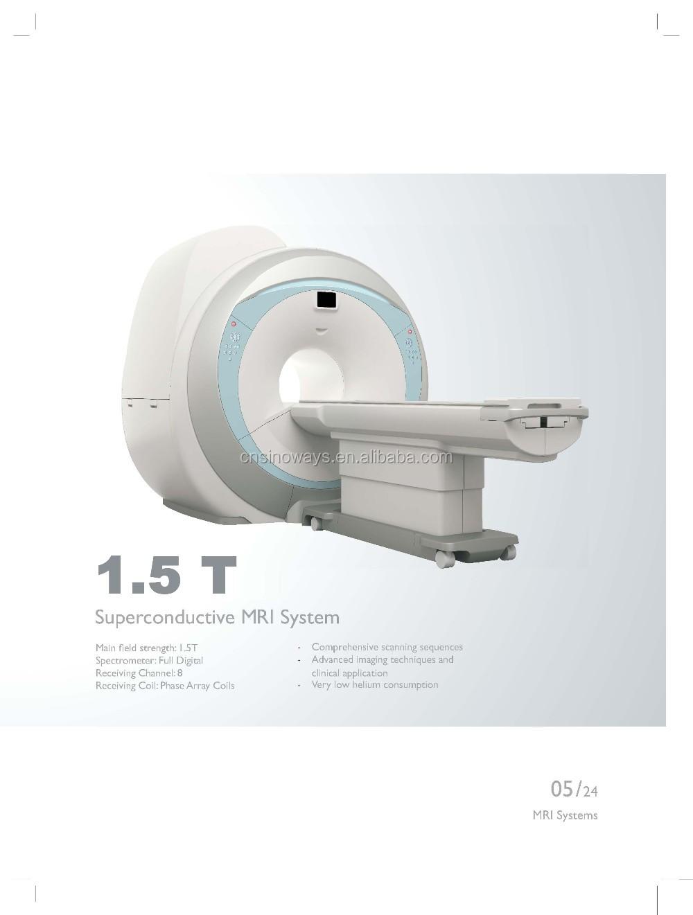 Супер сканирования 1.5 т мрт сверхпроводящего магнитно-резонансная томография оборудование