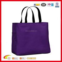 Deluxe 600d ployester canvas tote bag purple , Tote bag canvas web handles, Canvas tote bag china suppliers