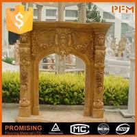 China best price modern white stone large fireplace surround