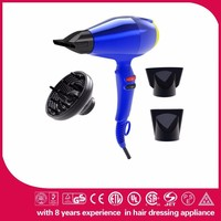 2400W new invention Diffuser avaliable AC motor colorful cordless hair dryer