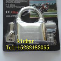 kinbar brand silver color zinc alloy alarmed padlock ---K 101a