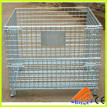 china metal wire mesh,wire metal cage storage container,wire mesh lid