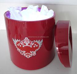 200ML High Quality Led Light Wine Bucket Cooler/Acrylic Ice Bucket Cooler