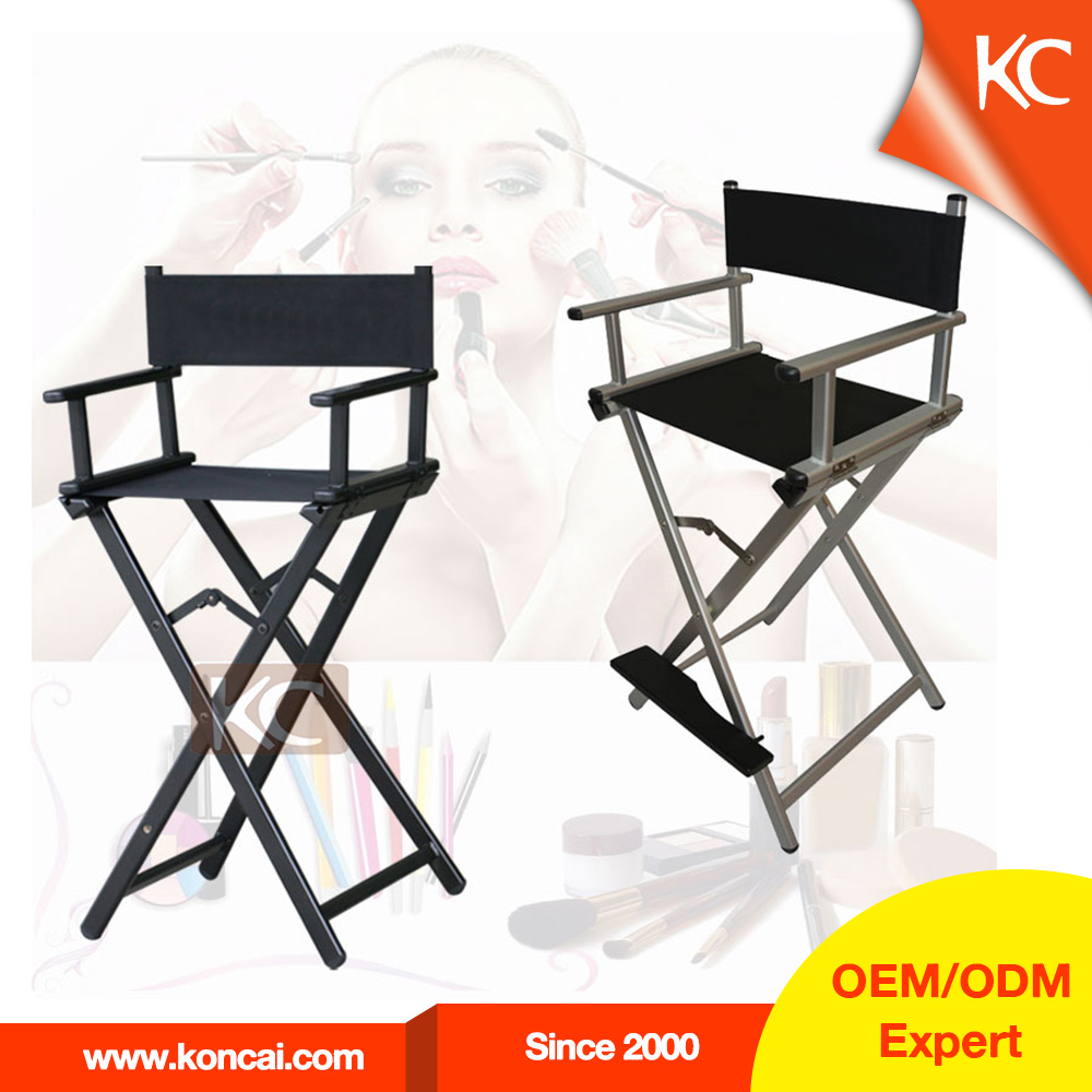 Professional aluminum foldable barber chair hair salon for Colored salon chairs