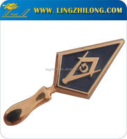 Customized Soft Enamel Masonic Metal Tool Badge Regalia Mason Badge