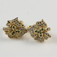 gold old fashioned earrings