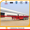 2015 new heavy duty 3 axle 40ton flat-deck container truck trailer