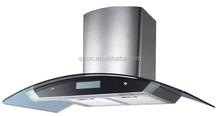 SAA Certificate 900mm screen display curved glass range hood