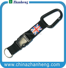 2015 hot sales promotional gift jacquard printed key chains