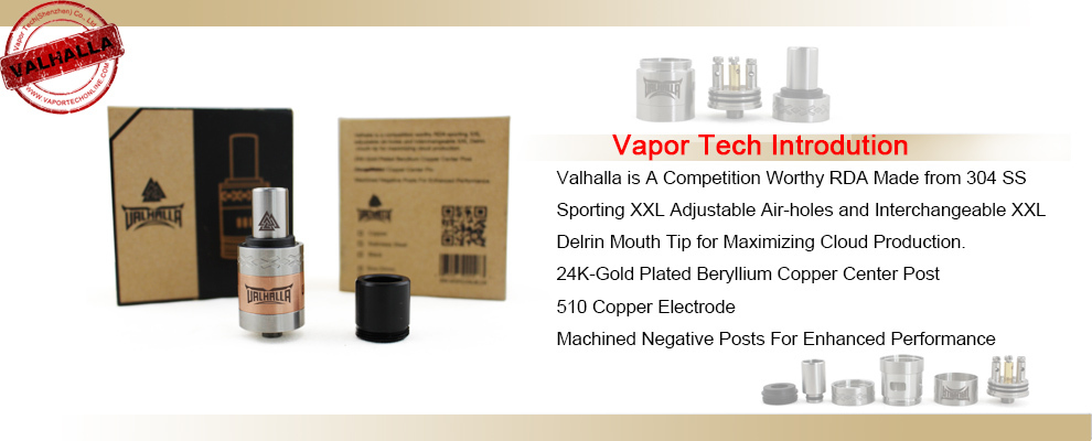 vapor tech authentic valhalla rda with vent holes big dripper atomizer foggatti rda view. Black Bedroom Furniture Sets. Home Design Ideas