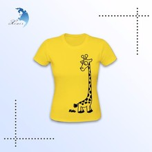 100% cotton customized design your own short sleeve 3d printing t shirt women