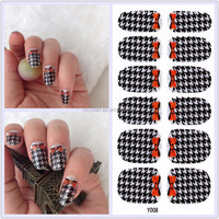 Y5008/Fashion Bowknot Sparkle Nail Art Effects Strips Decal Wrap Stickers
